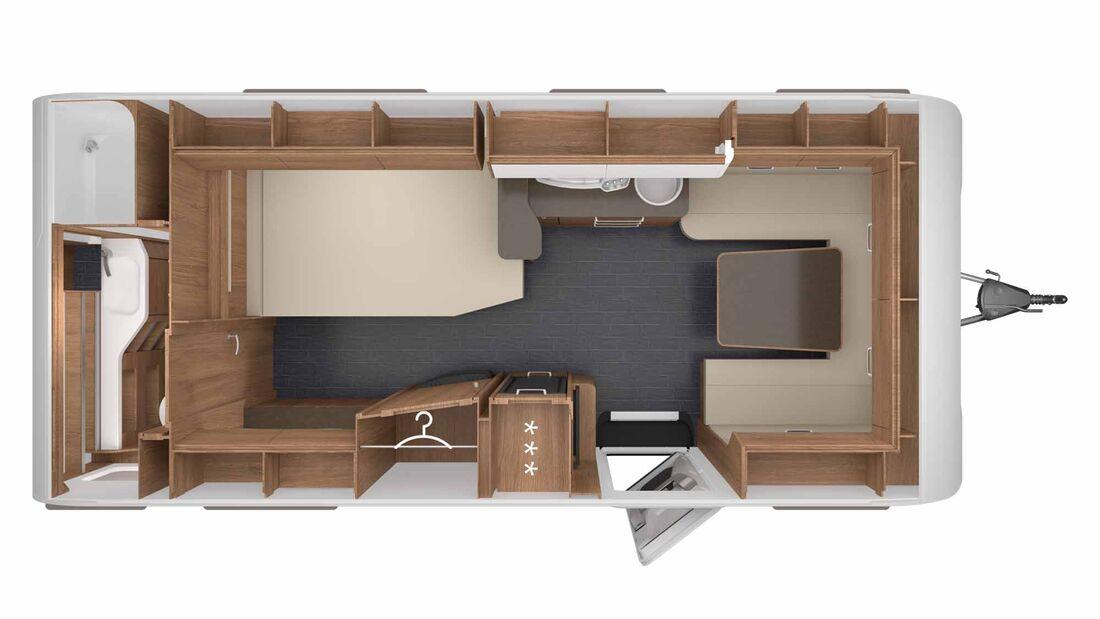 Tabbert Da Vinci 560 HDT (2021) im Grundriss