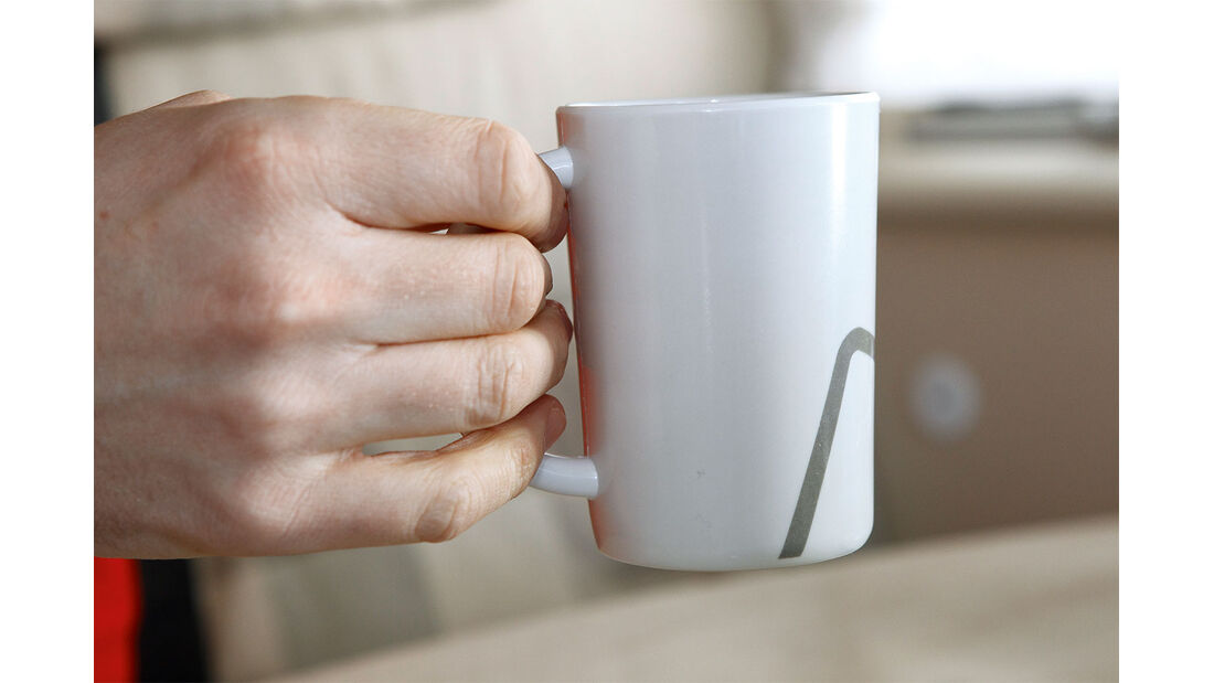 Tasse Geschirrtest
