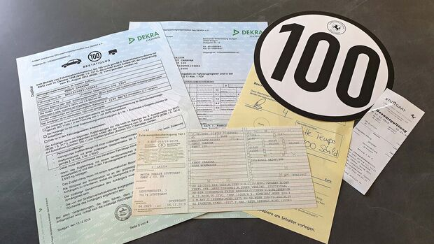 Tempo 100 Zulassung
