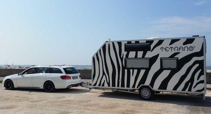 Tetrano Caravan für Rollstuhlfahrer