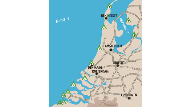 Top Campingplätze Nordsee-Küste Niederlande