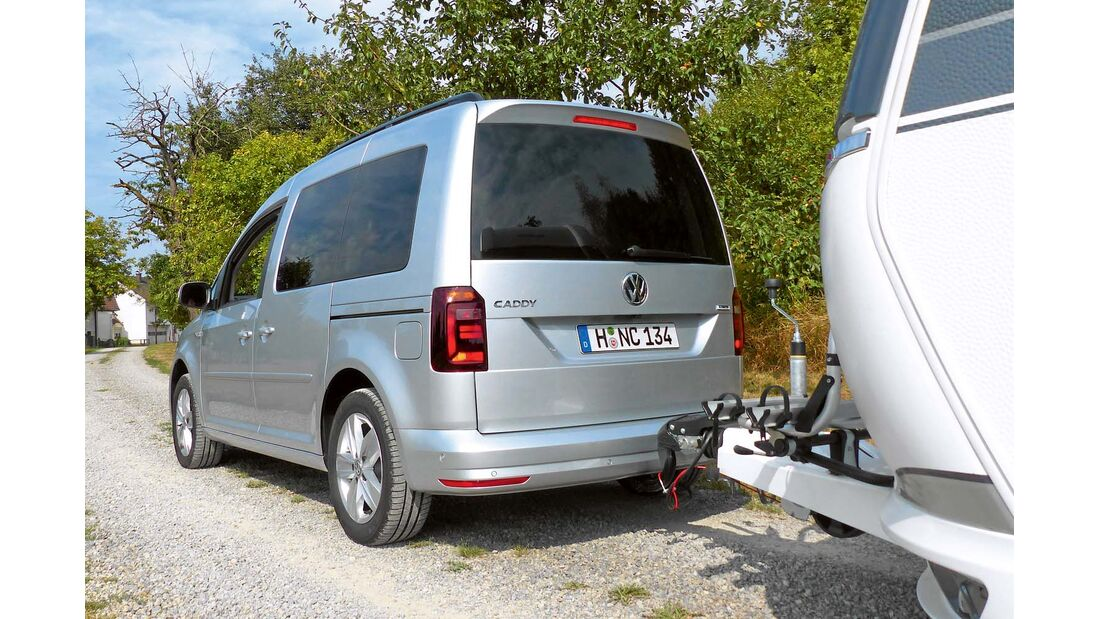 VW-Caddy mit Dachspoiler