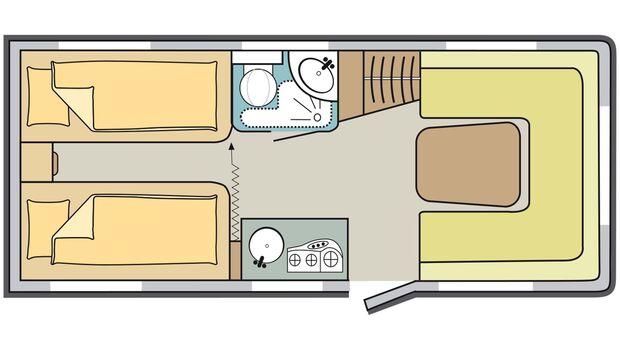 Vergleich Dethleffs vs. Knaus - Knaus Skizze Innenraum