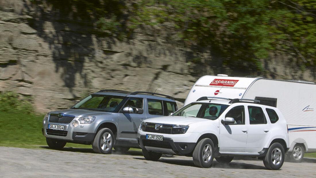 Vergleichstest - Skoda Yeti / Dacia Duster