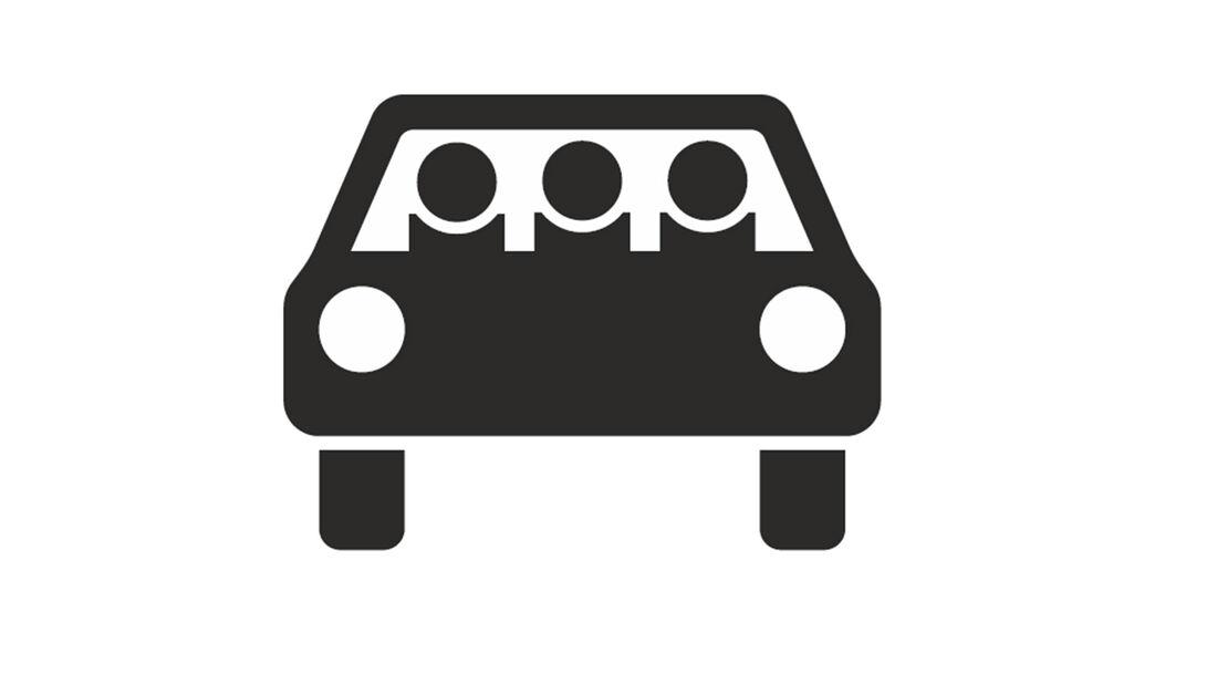 Verkehrszeichen Busspur Fahrgemeinschaft