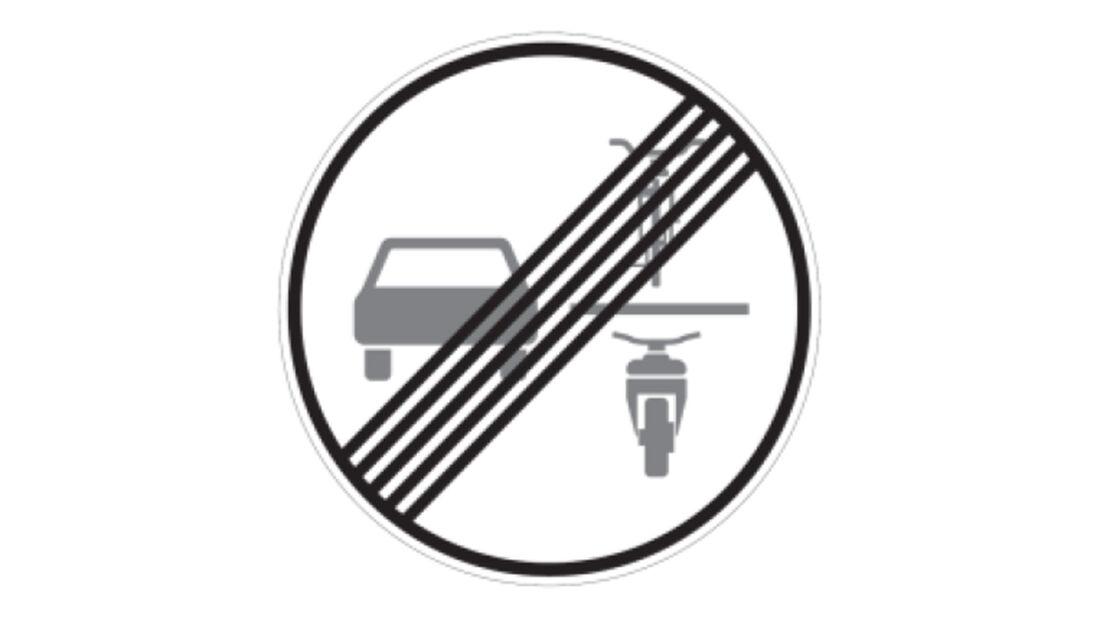 Verkehrszeichen Rad Überholverbot Ende