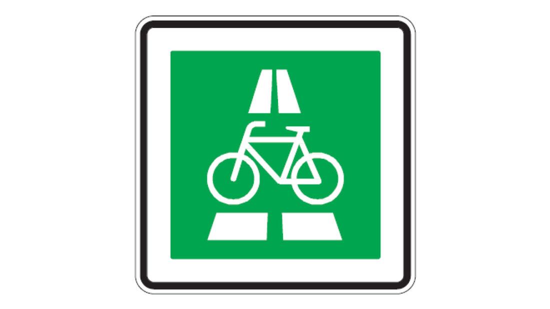 Verkehrszeichen Radschnellweg