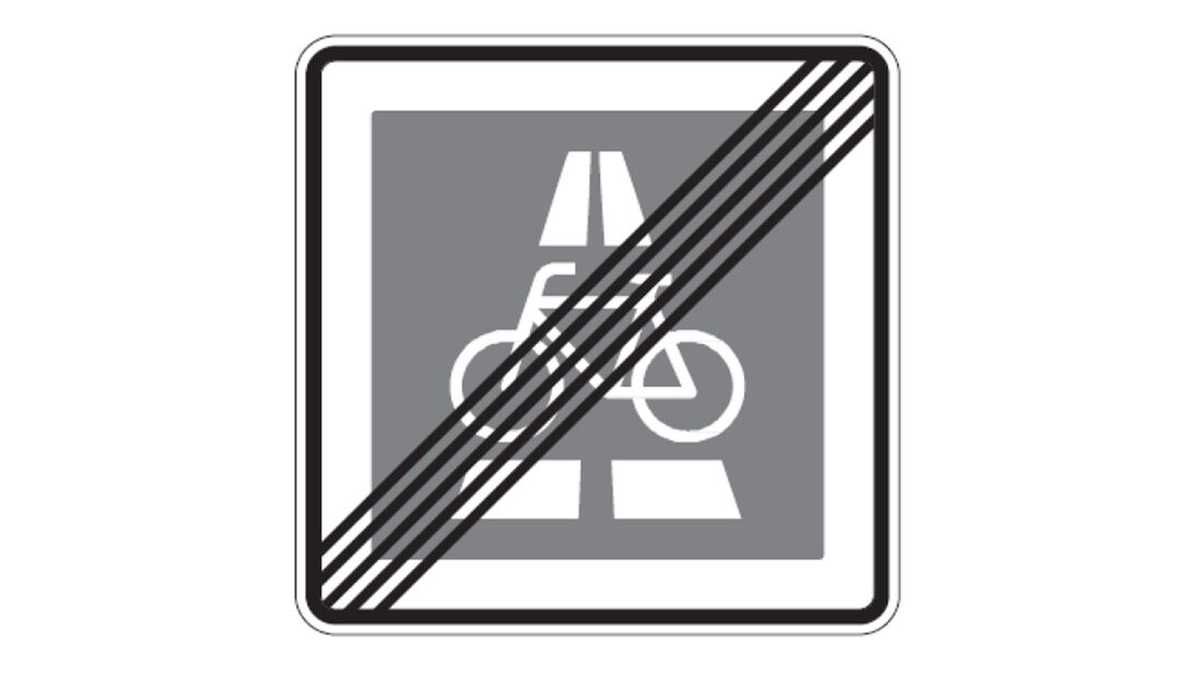 Verkehrszeichen Radschnellweg Ende