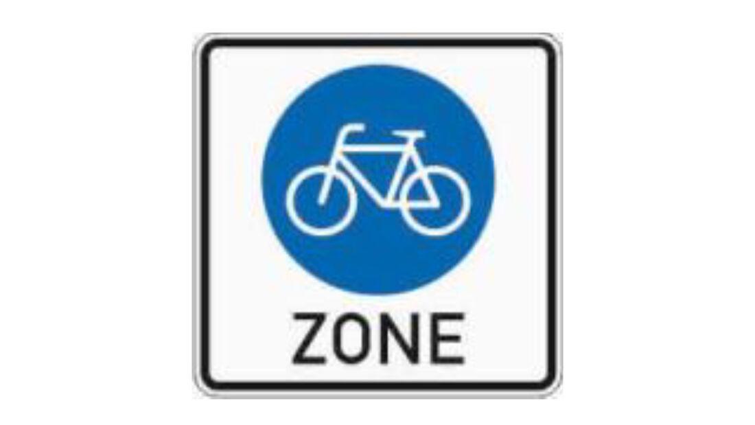 Verkehrszeichen Radzone