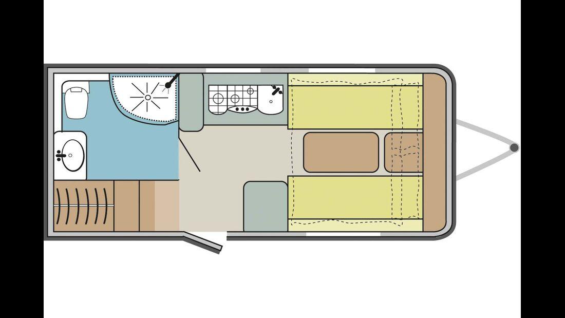 Viel Platz auf 5,40 Metern Aufbaulänge.