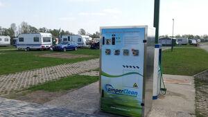 Vollautomatische Waschanlage für Toilettenkassetten