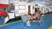 Wenn nicht alle Plätze ausgebucht sind, gibt es bei Camping an Bord viel Platz.