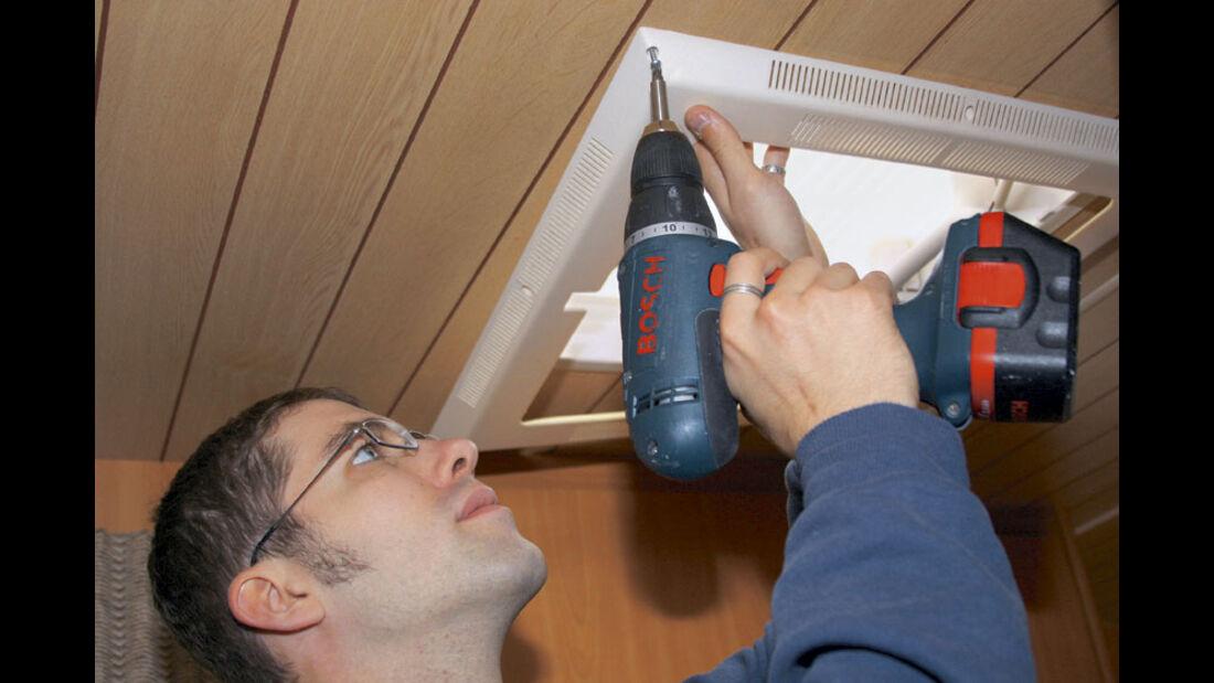 Werkstatt Einbau Dachhaube