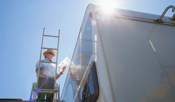 Werkstatt, Reparatur, Wohnwagen, Caravan