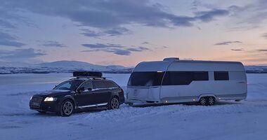 Winter-Wohnwagenreise Nordkap