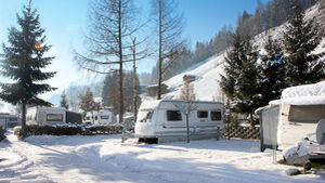 Winter im Camping Hell im Zillertal, Tirol