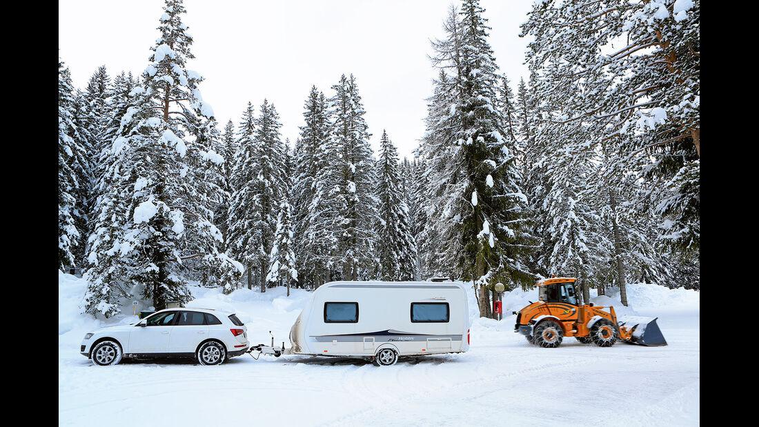 Winter im Camping Sass Dlacia