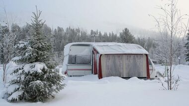 Winter on camping site