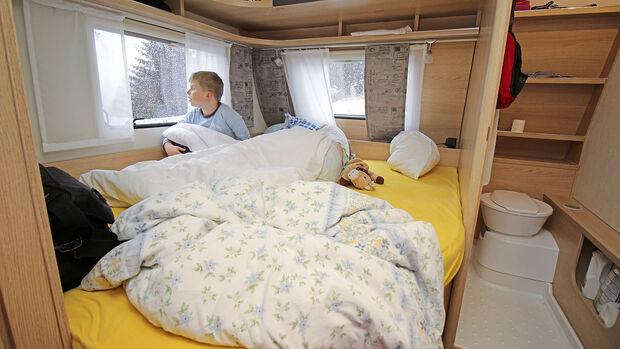 Wintercamping-Test Eriba Living 565