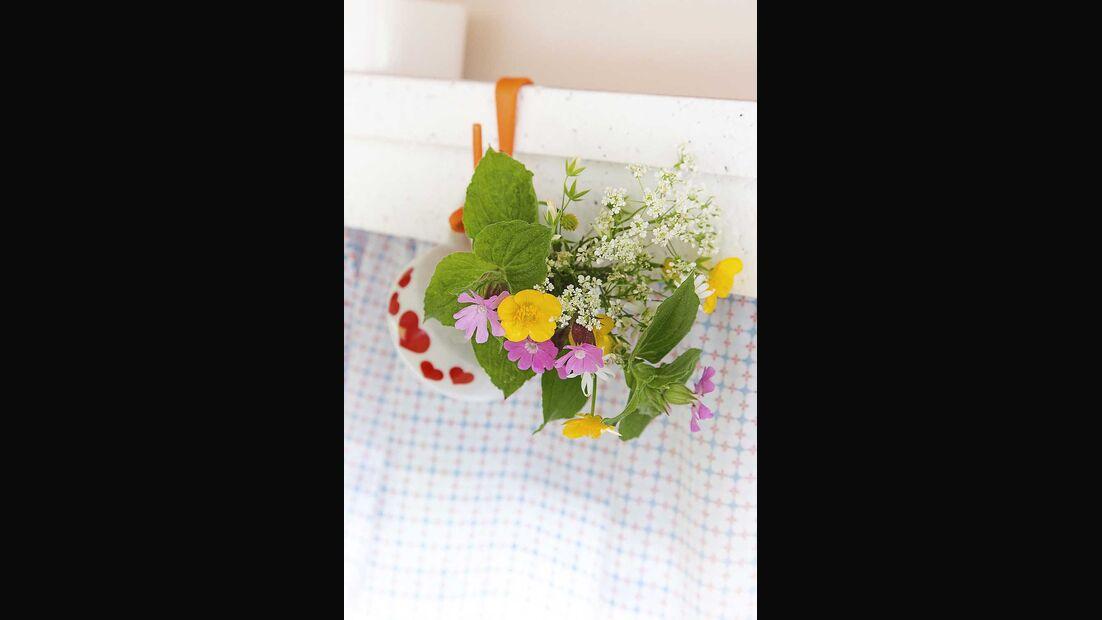 Wohnwagen Brummi Blumen