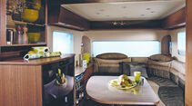 Wohnwagen Bürstner Averso Plus Hubbett Caravan Salon