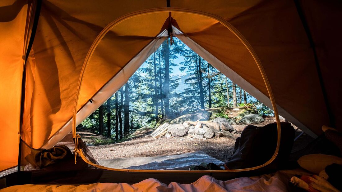 Zelt, Ausblick aus Zelt