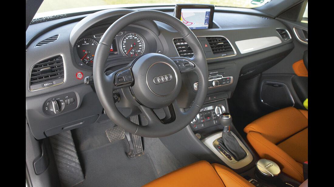 Zugwagen-Test: Audi Q3, Lenkrad