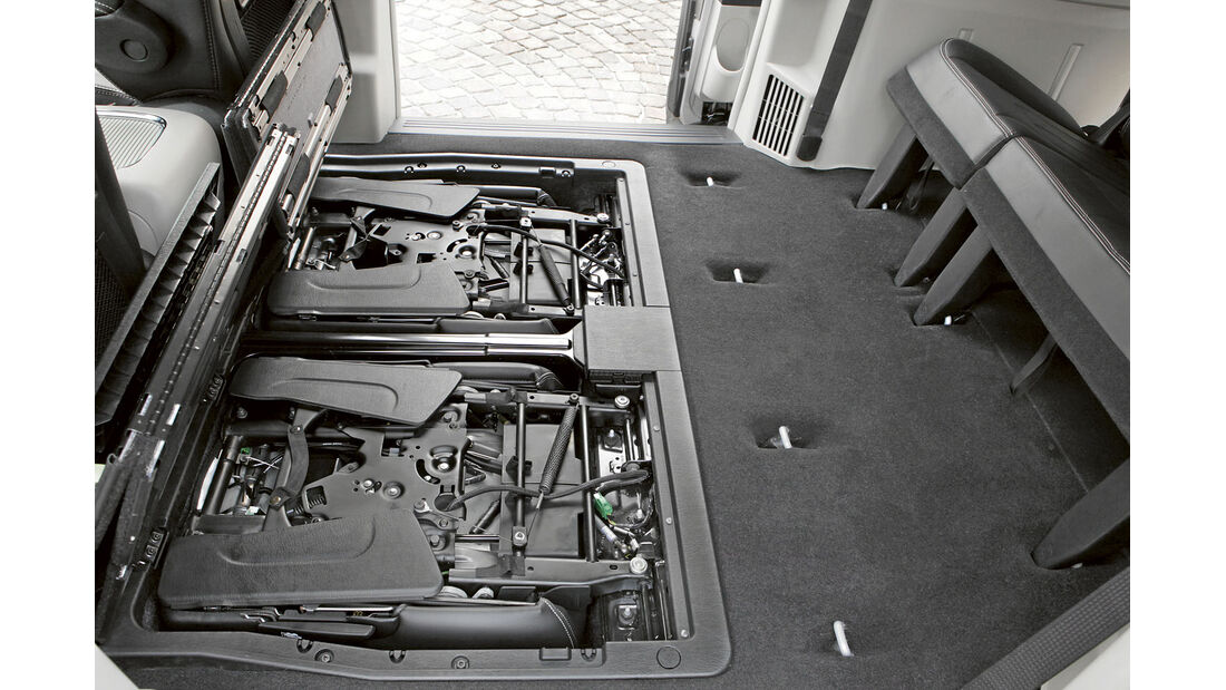 Zugwagen-Test: Lancia Voyager - Klappsitze