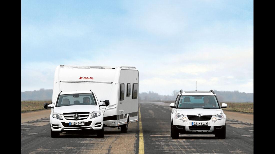 Zugwagen mit Caravan
