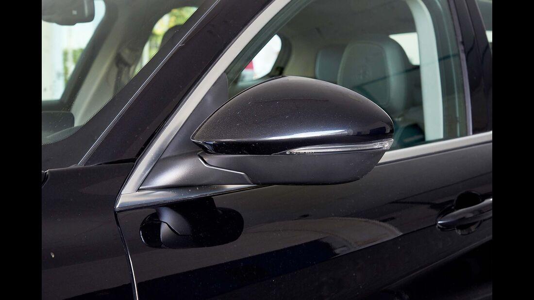 Zugwagentest Alfa Stelvio - Außenspiegel