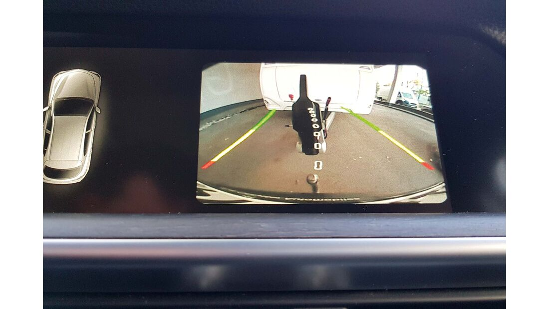 Zugwagentest Alfa Stelvio - Rückfahrkamera