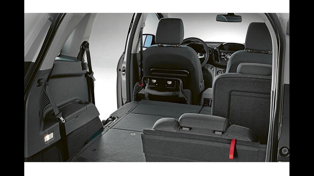Zugwagentest: Ford Grand C-Max, CAR 07/2012 - Kofferraum