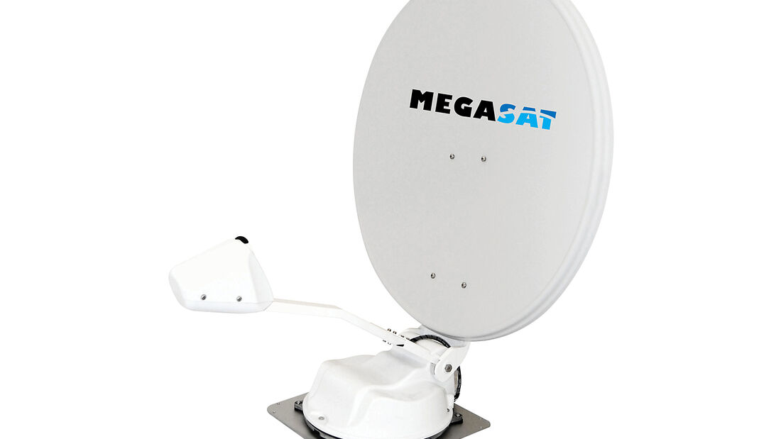 Zur CMT bringt Megasat ein neues Modell des Caravanman auf den Markt: mit einem Spiegeldurchmesser von 65 cm.
