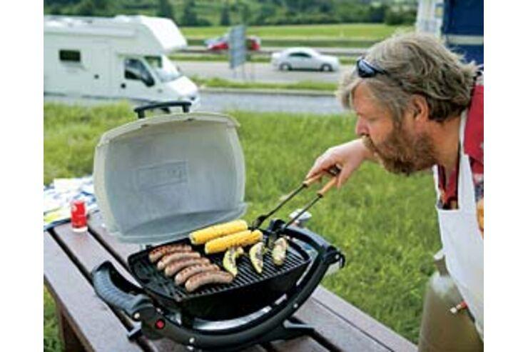 Weber Holzkohlegrill Wie Lange Vorheizen : Gasgrill : der baby q grill caravaning